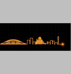 Hiroshima light streak skyline vector
