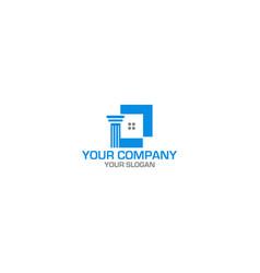 home law logo design vector image