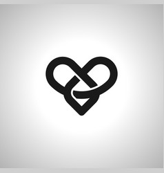 infinity love or eternal love image icon and vector image