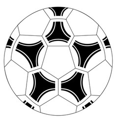 isolated soccer ball icon vector image