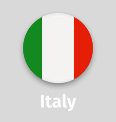 Italy flag round icon with shadow vector