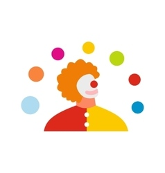Juggler man flat icon vector image