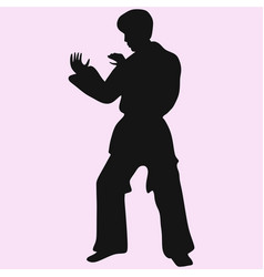 Karate man vector