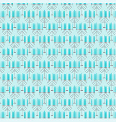 Light blue menorah pattern vector