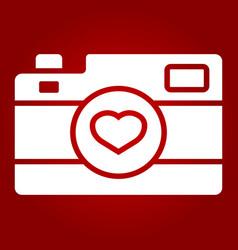 Love camera glyph icon valentines day romantic vector