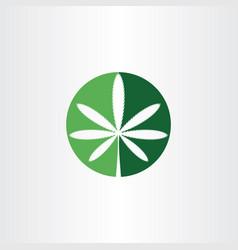 marijuana sign cannabis logo icon symbol vector image