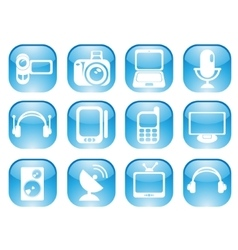 Media web icons vector