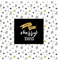merry christmas hand drawn card vector image