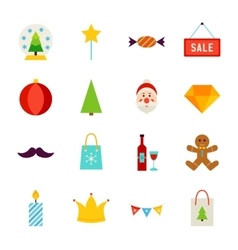 Merry christmas objects vector
