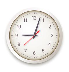 modern quartz wall clock on white background vector image