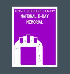 National d-day memorial usa monument landmark vector