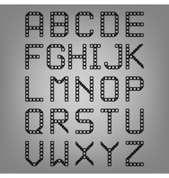 Pixel font isolated set Set of vector image
