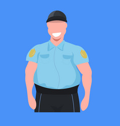 police man officer in uniform male cop security vector image