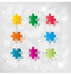 puzzle path background vector image