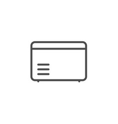 refrigerated chest line outline icon vector image