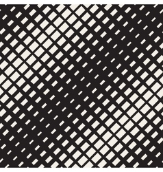 Seamless Black And White Diagonal Halftone vector