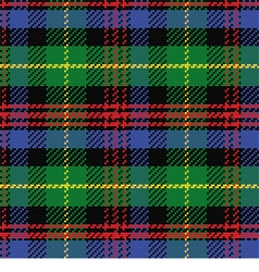 Seamless pattern Scottish tartan Black Watch vector