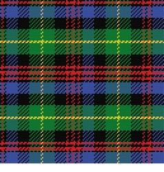 Seamless pattern Scottish tartan Black Watch vector
