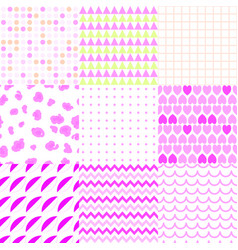 set colorful elegant seamless patterns vector image