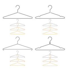 Set decorative clothes hangers vector