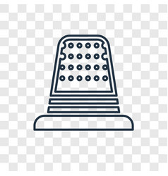 sewing thimble black variant concept linear icon vector image
