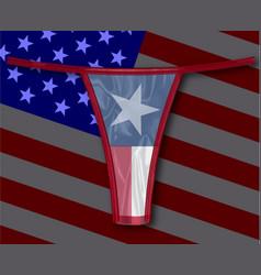 Silk texas thong vector
