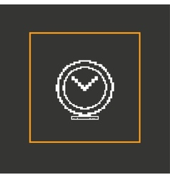 Simple stylish pixel clock icon design vector image