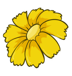 Single flower in yellow color vector