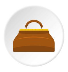 Small bag icon circle vector