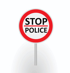 Stop police sign vector