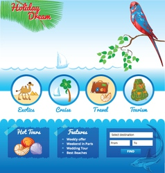 Template for travel site vector image