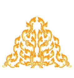 Thai style triangular art pattern on white vector