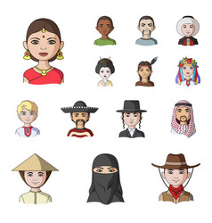 The human race cartoon icons in set collection for vector