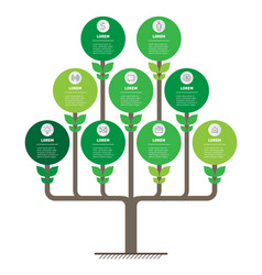 Tree or timeline trends business concept with vector
