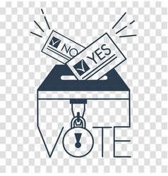 voting concept in linear style silhouette vector image