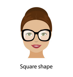 Woman square face shape vector