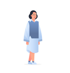 Young asian girl wearing casual clothes happy vector