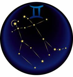 Zodiac Gemini sign vector