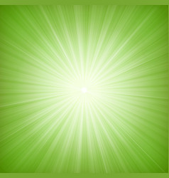 elegant green starburst background vector image