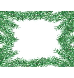 Frame of fir branches vector image