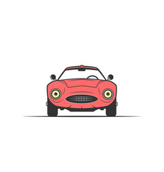 hand-drawn red car vector image