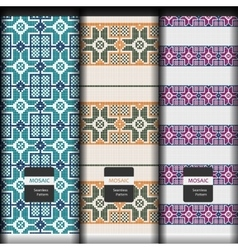 Seamless texture with geometric mosaic ornament vector image