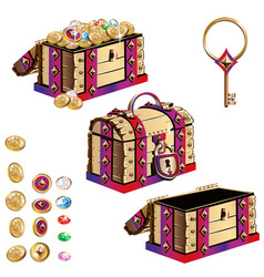 treasure chest set vector image