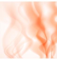 Abstract background of orange smoke vector image vector image