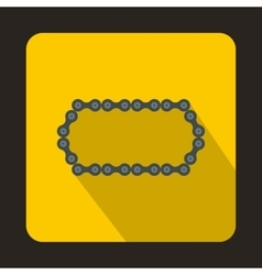 Bicycle chain icon flat style vector image vector image