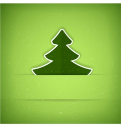 Green Christmas tree card vector image vector image