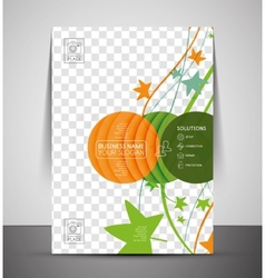 Nature corporate flyer print template vector image