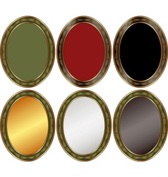 oval backgrounds vector image