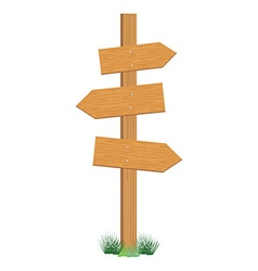 Wooden sign post vector image vector image