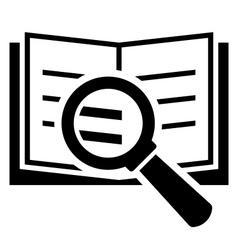 Book search icon vector
